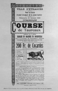 Course camarguaise eyrages 1908